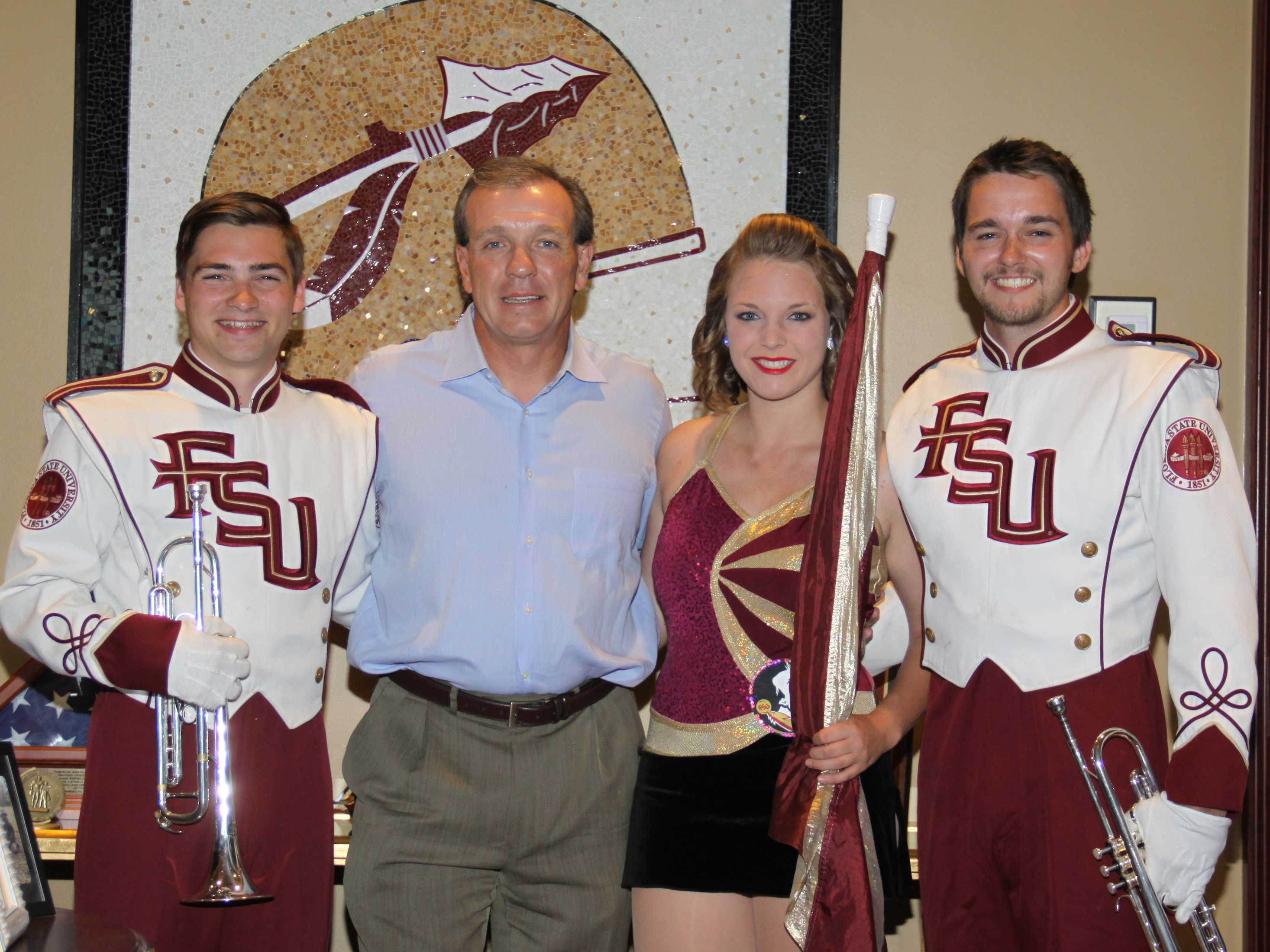 FSU Marching Chiefs Honor Coach Fisher's Fight