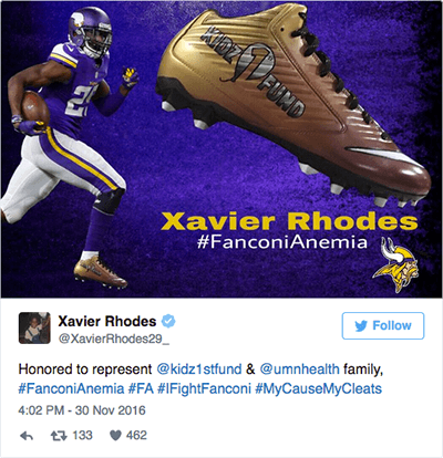 Xavier Rhodes tweet